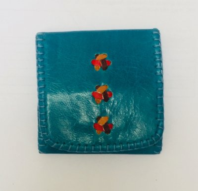 【入荷待ち】三つ折り財布S エメラルド01