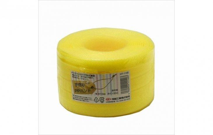 【PPバンド】 PPバンド 透明黄 15mm(15.5)x100m 手芸用 梱包にも