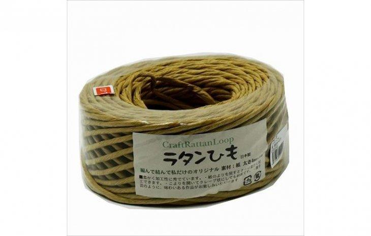 手芸用紙ひも 4mmx50m(ラタンサイズ)茶