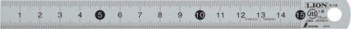 ライオン事務器 S-15 ステンレス直線定規(目盛15cm) 271-50