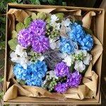 初夏の紫陽花リース