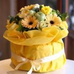 元気が出る黄色☆「おむつケーキ・イエロー」