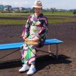 セオ・アルファプレタ浴衣【サークルボーダー】ディープ S,M,L