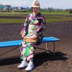 セオ・アルファプレタ浴衣【サークルボーダー】ディープ L