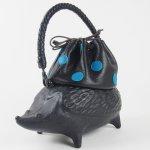 コシェルドゥ【ハリネズミ(黒)バッグ】黒地/ブルードット