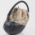 コシェルドゥ【フクロウ(黒)バッグ】エコファー バンビ