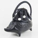 コシェルドゥ【ハリネズミ(黒)バッグ】黒地/ホワイトドット