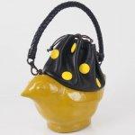 コシェルドゥ【鳥(黄色)バッグ 水玉】