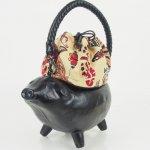 コシェルドゥ【豚(黒)バッグ】梅屋オリジナル巾着 蝶