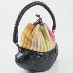 コシェルドゥ【金魚(黒)バッグ】梅屋オリジナル巾着 パリストライプ