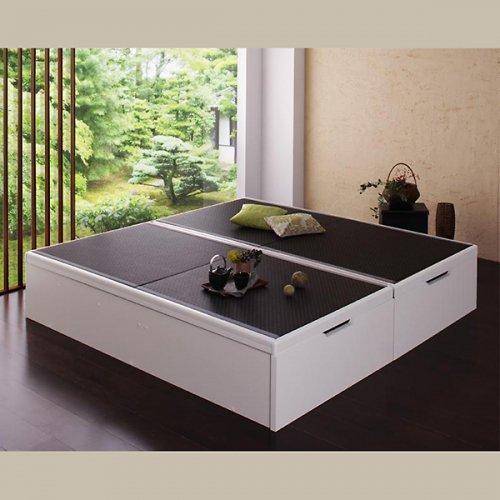 日本製・安心の品質!美草仕様ヘッドボードレス日本製タタミベッド【KMR】(大容量収納跳ね上げ式) 【2】