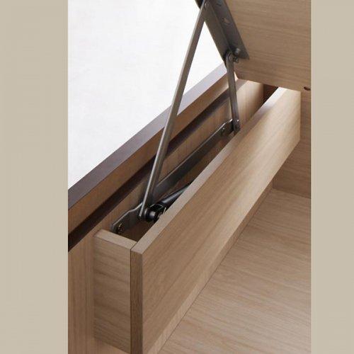 日本製・安心の品質!美草仕様ヘッドボードレス日本製タタミベッド【KMR】(大容量収納跳ね上げ式) 【11】
