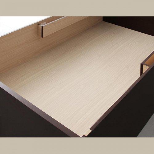 日本製・安心の品質!美草仕様ヘッドボードレス日本製タタミベッド【KMR】(大容量収納跳ね上げ式) 【12】