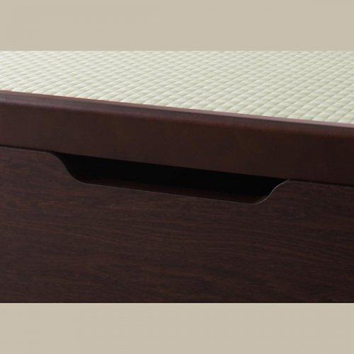 日本製・安心の品質!美草仕様ヘッドボードレス日本製タタミベッド【KMR】(大容量収納跳ね上げ式) 【14】