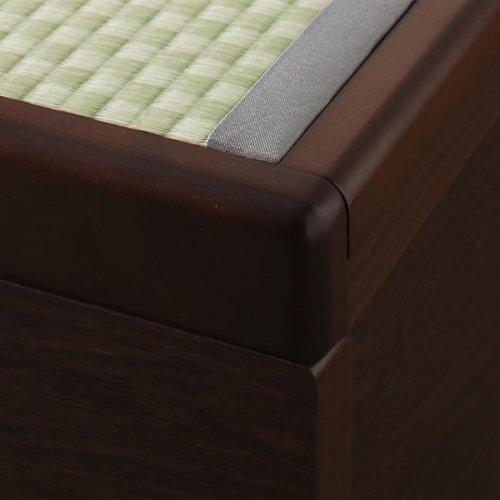 日本製・安心の品質!美草仕様ヘッドボードレス日本製タタミベッド【KMR】(大容量収納跳ね上げ式) 【15】