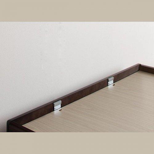 日本製・安心の品質!美草仕様ヘッドボードレス日本製タタミベッド【KMR】(大容量収納跳ね上げ式) 【17】