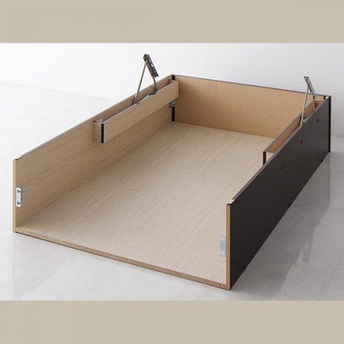 日本製・安心の品質!美草仕様ヘッドボードレス日本製タタミベッド【KMR】(大容量収納跳ね上げ式) 【25】