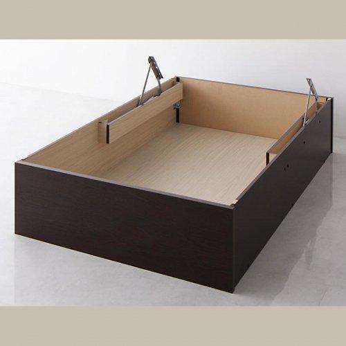 日本製・安心の品質!美草仕様ヘッドボードレス日本製タタミベッド【KMR】(大容量収納跳ね上げ式) 【26】