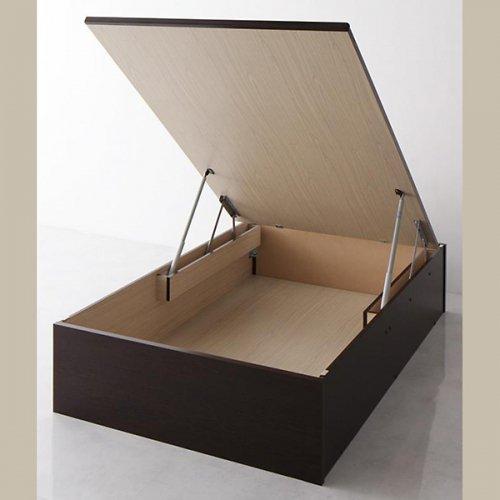日本製・安心の品質!美草仕様ヘッドボードレス日本製タタミベッド【KMR】(大容量収納跳ね上げ式) 【27】