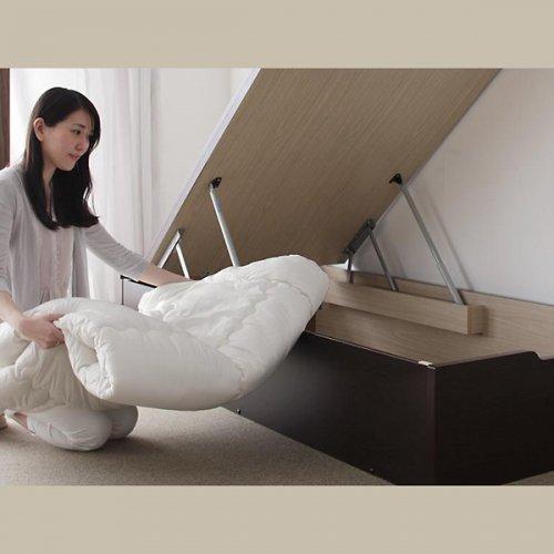日本製・安心の品質!美草仕様ヘッドボードレス日本製タタミベッド【KMR】(大容量収納跳ね上げ式) 【6】