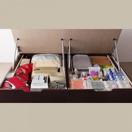 日本製・安心の品質!美草仕様ヘッドボードレス日本製タタミベッド【KMR】(大容量収納跳ね上げ式) 【8】