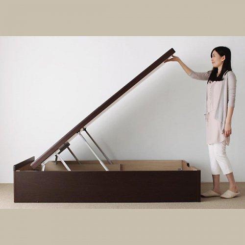 日本製・安心の品質!美草仕様ヘッドボードレス日本製タタミベッド【KMR】(大容量収納跳ね上げ式) 【9】