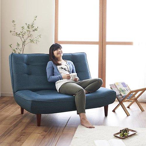 日本製ハイバック&リクライニングソファ【LNT-ファブリック】(ポケットコイル仕様) 【2】