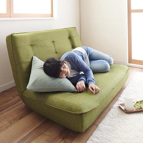 日本製ハイバック&リクライニングソファ【LNT-ファブリック】(ポケットコイル仕様) 【4】