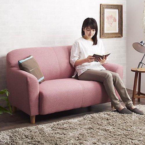 コンパクトで丸みのある可愛いソファ【LNA】2人掛け 【2】