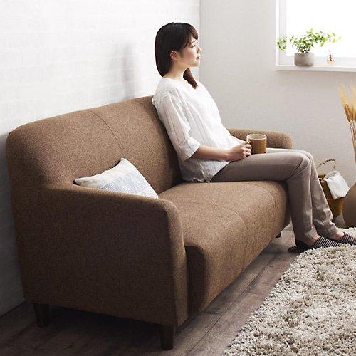 コンパクトで丸みのある可愛いソファ【LNA】2人掛け 【3】