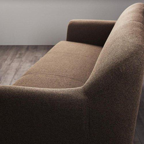 コンパクトで丸みのある可愛いソファ【LNA】2人掛け 【7】