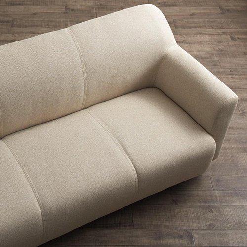 コンパクトで丸みのある可愛いソファ【LNA】2人掛け 【8】