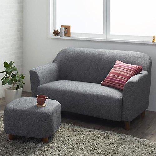 コンパクトで丸みのある可愛いソファ【LNA】2人掛け 【10】