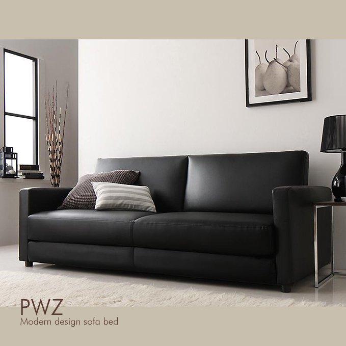 切り替えカンタン!PVCレザー貼りソファベッド【PWZ】(2.5P/3P)