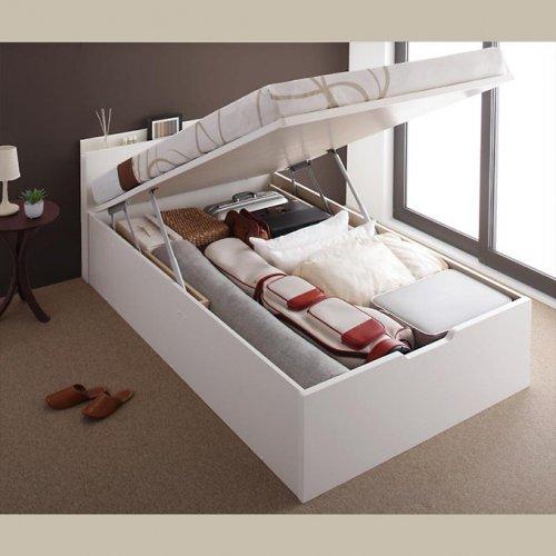 日本製・安心の品質!フランスベッド社製マットレス使用!跳ね上げ式収納ベッド【PTQ】 【2】