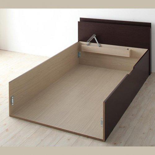 日本製・安心の品質!フランスベッド社製マットレス使用!跳ね上げ式収納ベッド【PTQ】 【16】