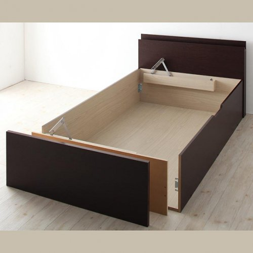 日本製・安心の品質!フランスベッド社製マットレス使用!跳ね上げ式収納ベッド【PTQ】 【17】
