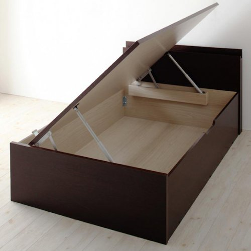 日本製・安心の品質!フランスベッド社製マットレス使用!跳ね上げ式収納ベッド【PTQ】 【18】