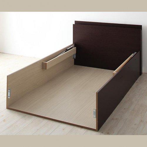 日本製・安心の品質!フランスベッド社製マットレス使用!跳ね上げ式収納ベッド【PTQ】 【19】