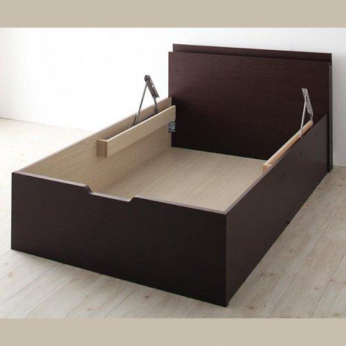 日本製・安心の品質!フランスベッド社製マットレス使用!跳ね上げ式収納ベッド【PTQ】 【20】