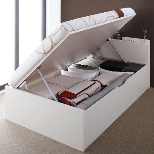 日本製・安心の品質!フランスベッド社製マットレス使用!跳ね上げ式収納ベッド【PTQ】 【3】