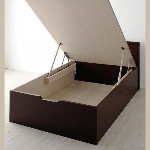 日本製・安心の品質!フランスベッド社製マットレス使用!跳ね上げ式収納ベッド【PTQ】 【21】