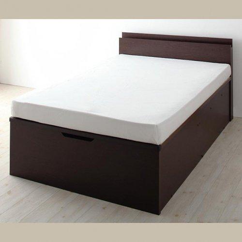 日本製・安心の品質!フランスベッド社製マットレス使用!跳ね上げ式収納ベッド【PTQ】 【22】