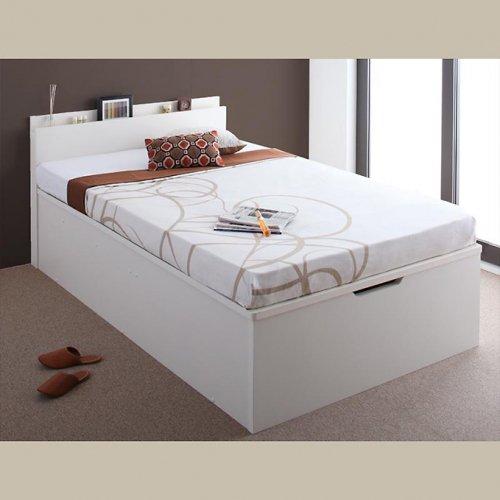 日本製・安心の品質!フランスベッド社製マットレス使用!跳ね上げ式収納ベッド【PTQ】 【4】