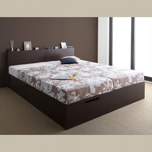 日本製・安心の品質!フランスベッド社製マットレス使用!跳ね上げ式収納ベッド【PTQ】 【7】