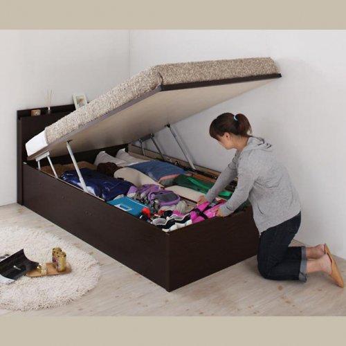 日本製・安心の品質!フランスベッド社製マットレス使用!跳ね上げ式収納ベッド【PTQ】 【8】