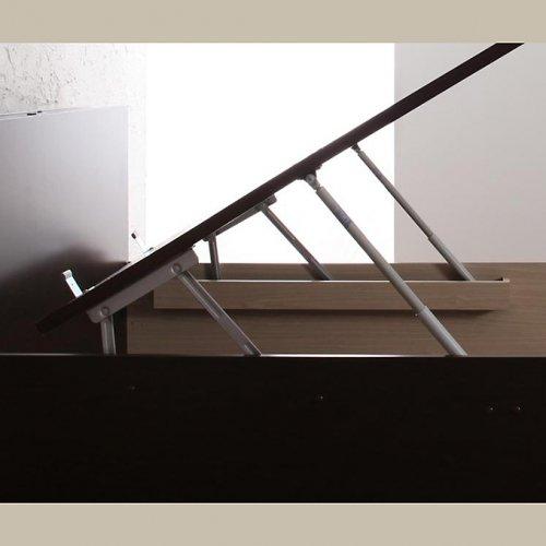 日本製・安心の品質!フランスベッド社製マットレス使用!跳ね上げ式収納ベッド【PTQ】 【9】