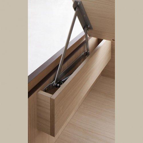 日本製・安心の品質!フランスベッド社製マットレス使用!跳ね上げ式収納ベッド【PTQ】 【10】