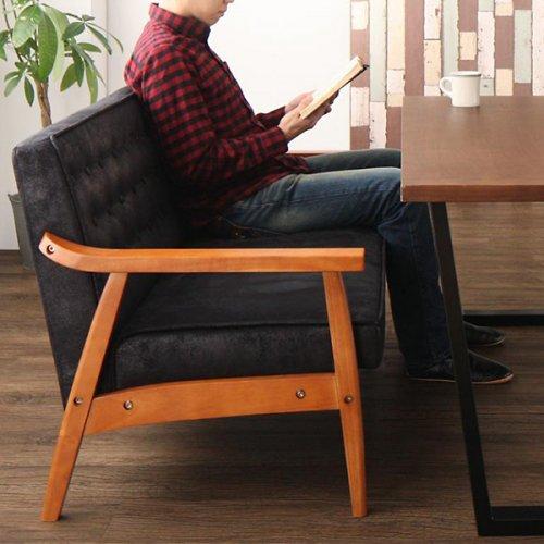 ヴィンテージデザイン!ソファーダイニングテーブルセット【BDX】4点セット 【11】