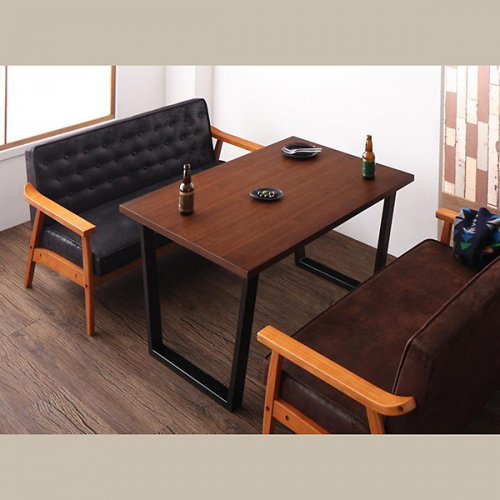 ヴィンテージデザイン!ソファーダイニングテーブルセット【BDX】5点セット 【6】